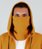 VegNonVeg Front Open Snood Hoodie 'MUSTARD'
