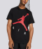 M J JUMPMAN AIR HBR SS CREW 'BLACK/GYMRED'