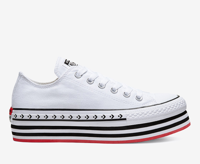 madre Adepto Guardia  Converse - CHUCK TAYLOR ALL STAR LIFT ARCHIVAL CANVAS 'WHITE/BLACK/WHITE' -  VegNonVeg