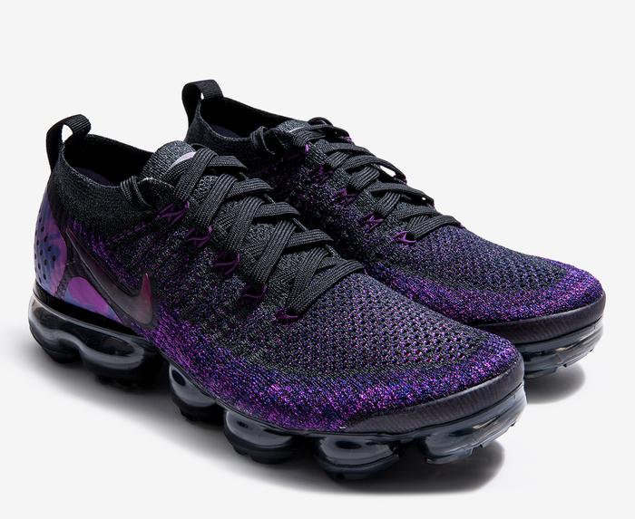 nike vapormax flyknit 2 black and purple