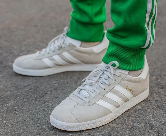 Adidas Originals - GAZELLE 'GREY ONE F17/WHITE/GOLD MET' - VegNonVeg