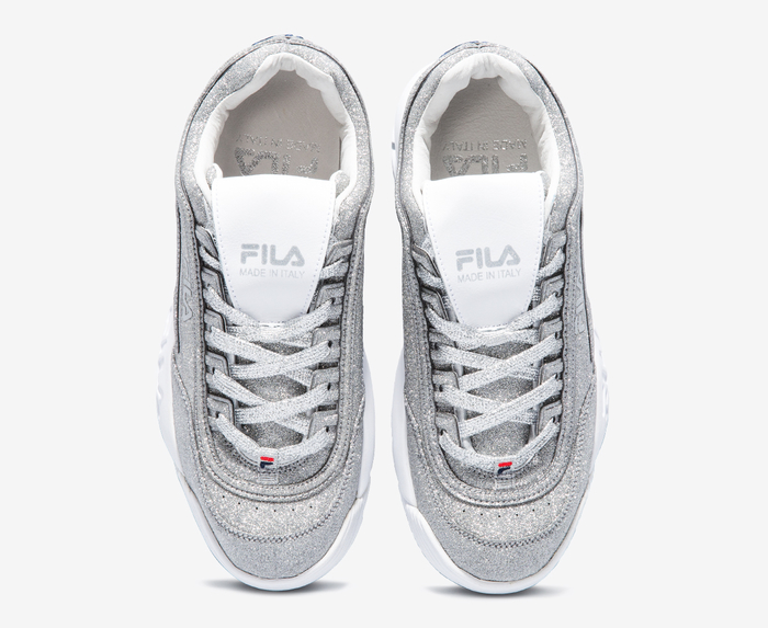 fila disruptor silver glitter